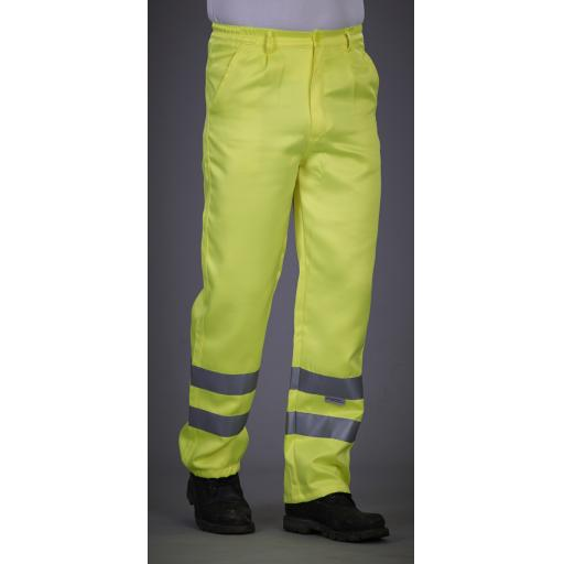 Hi-Vis Polycotton Work Trouser (Reg)