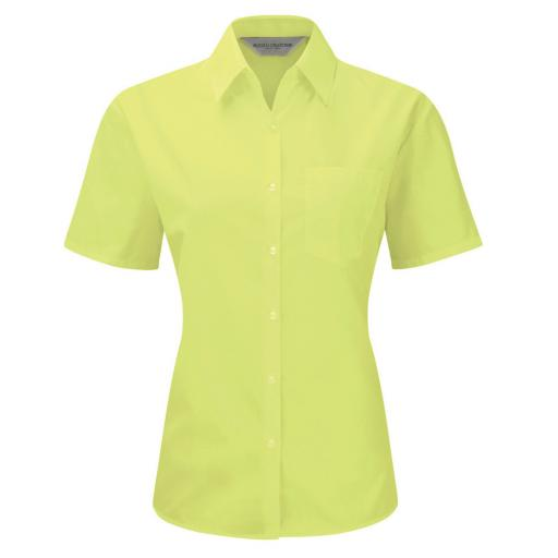Ladies' S/Sleeve Polycotton Shirt