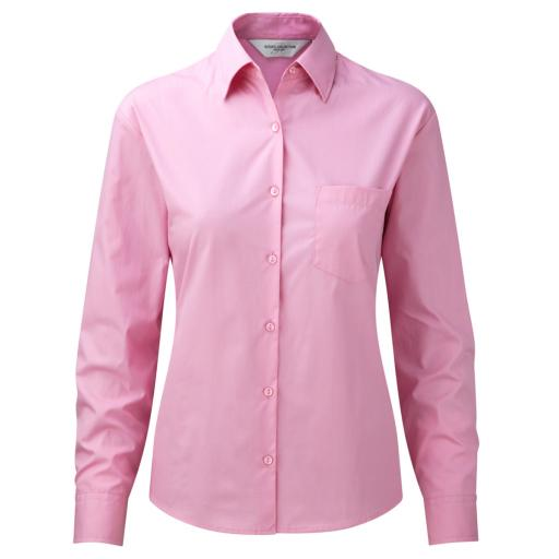 Ladies' L/Sleeve Poplin Shirt