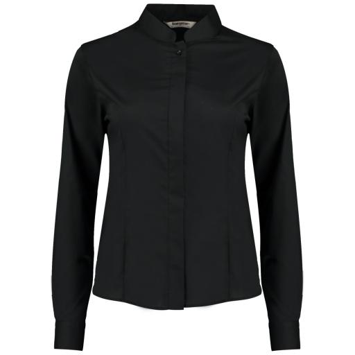 Ladies' L/Sleeved Mandarin Shirt