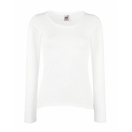Lady-Fit Valueweight L/Sleeve T