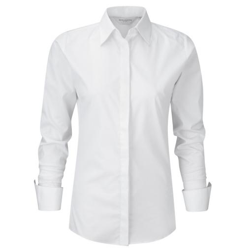 Ladies' L/Sleeve Stretch Shirt