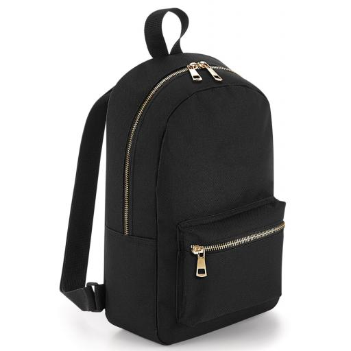 Metallic Zip Mini Backpack