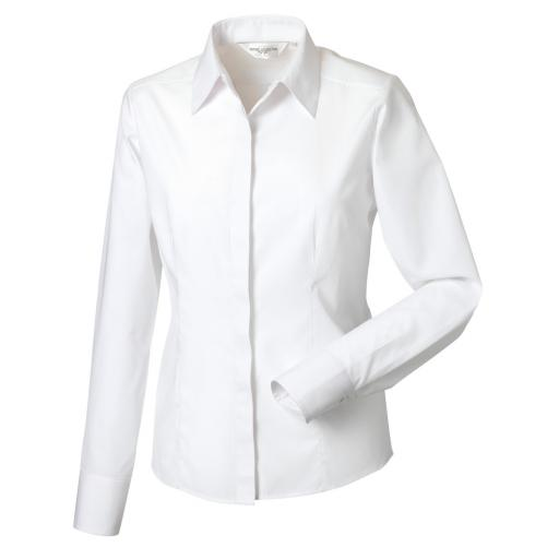 Ladies' L/Sleeve Polycotton Shirt