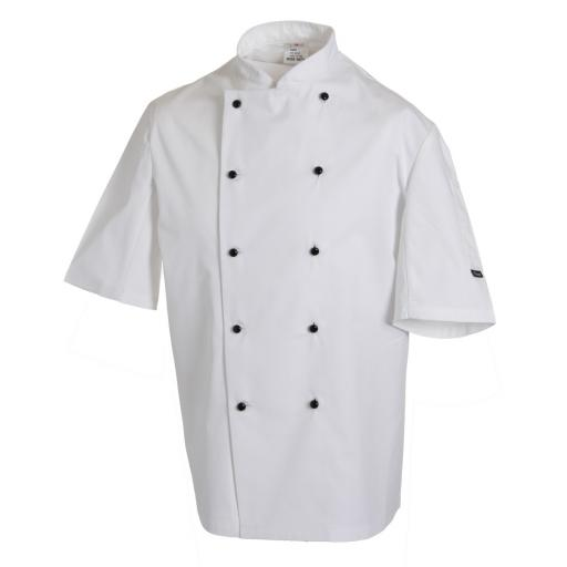 Removable Stud S/Sleeve Chef Jacket