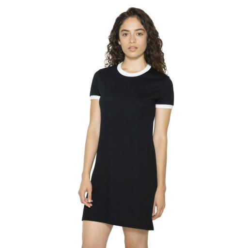 Women's Poly-Cotton Ringer T-Shirt Dress