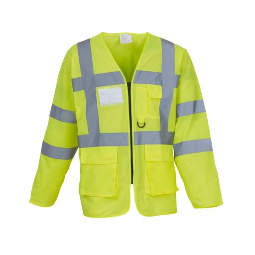 Hi-Vis Executive Long Sleeve Waistcoat