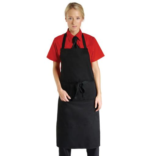 Low Cost Bib Apron With Pocket