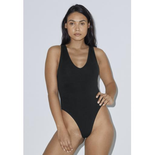 Women's Cotton Spandex Thong Bodysuit