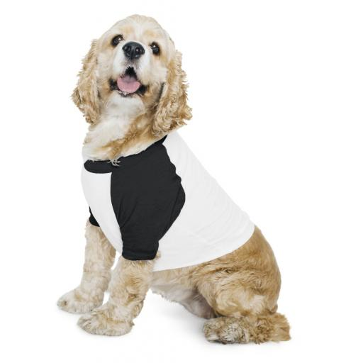 Dog Poly-Cotton 3/4 Sleeve Raglan T