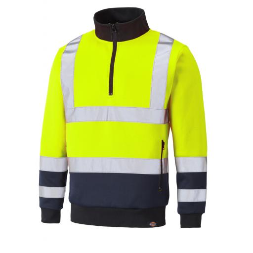 Hi-Vis Quarter Zip Sweatshirt