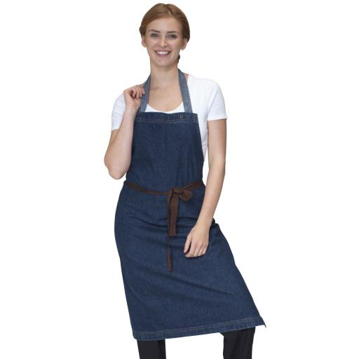Washed Denim Bib Apron