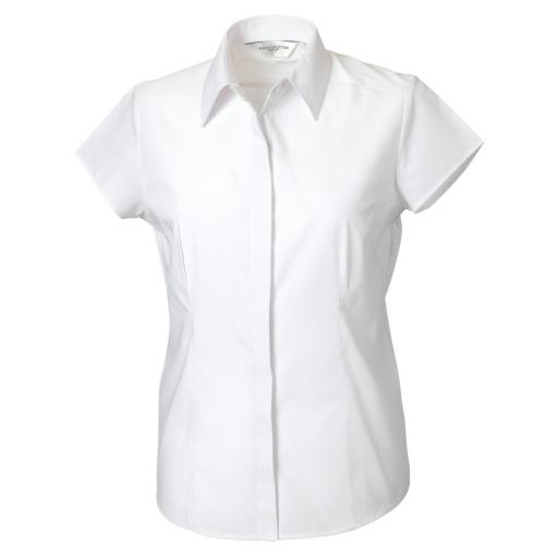 Ladies' Cap Sleeve Polycotton Shirt