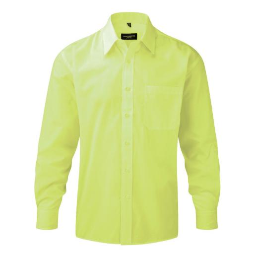 Men's L/Sleeve Polycotton Shirt