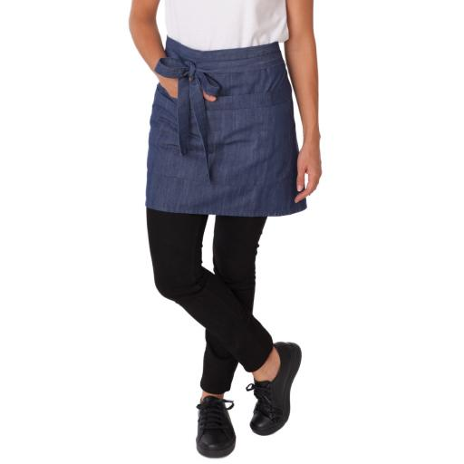 Denim Waist Apron With Pocket