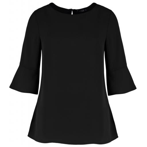 Ladies' Regular Fit Fluted Sleeve Top