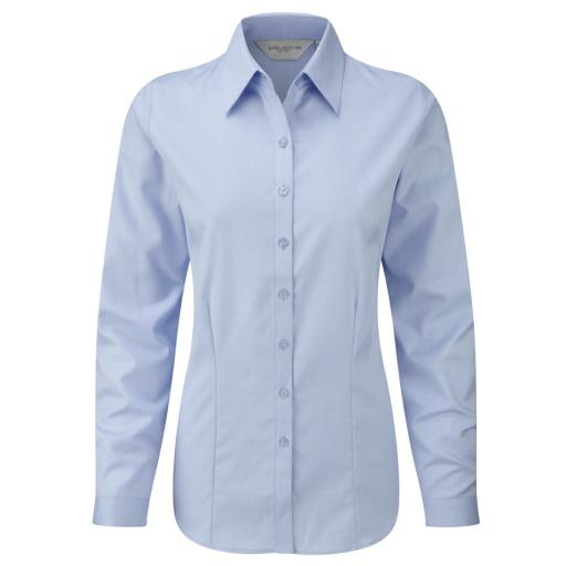 Ladies' L/Sleeve Herringbone Shirt