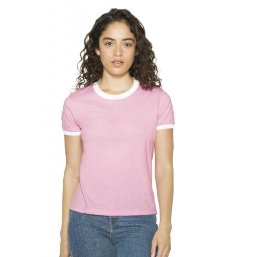 Women's Poly-Cotton Ringer T-Shirt