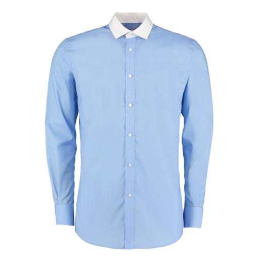 Men's Contrast Collar L/S Business Shirt