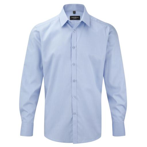Men's L/Sleeve Herringbone Shirt