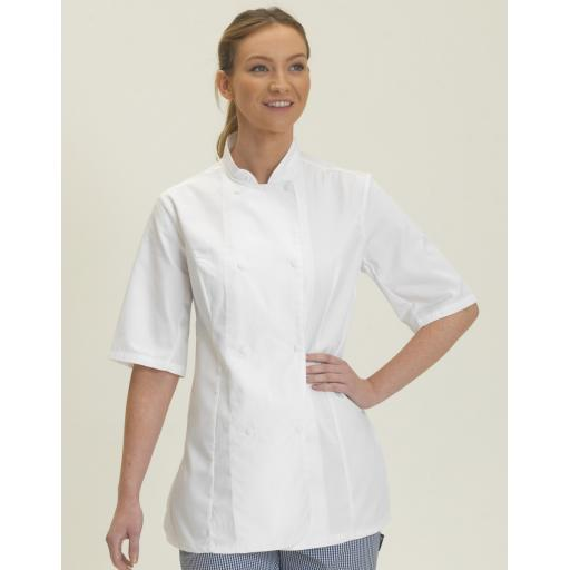 Ladies' Short Sleeve Chef's Jacket