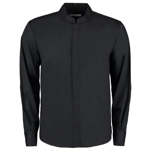 Men's L/Sleeve Mandarin Collar Shirt