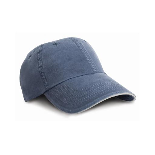 Washed Fine Line Cotton Cap