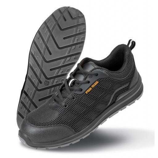 Unisex All Black Safety Trainer