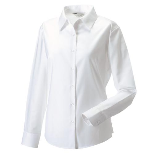 Ladies' L/Sleeve Oxford Shirt