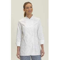 Ladies' Long Sleeve Fitted Chef's Jacket