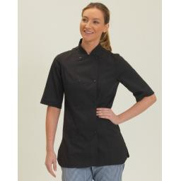 Ladies' Short Sleeve Fitted Chef's Jacket