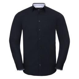 Men's Long Sleeve Tailored Contrast Ultimate Stretch Shirt†