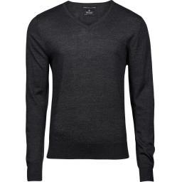 Men's V Neck Knitted Sweater