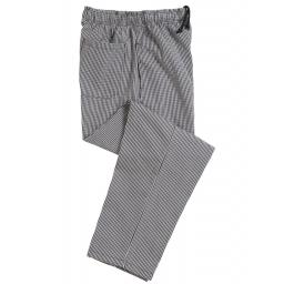 Unisex Elasticated Check Chefs Trouser