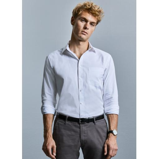Men's Long Sleeve Tailored Coolmax® Shirt