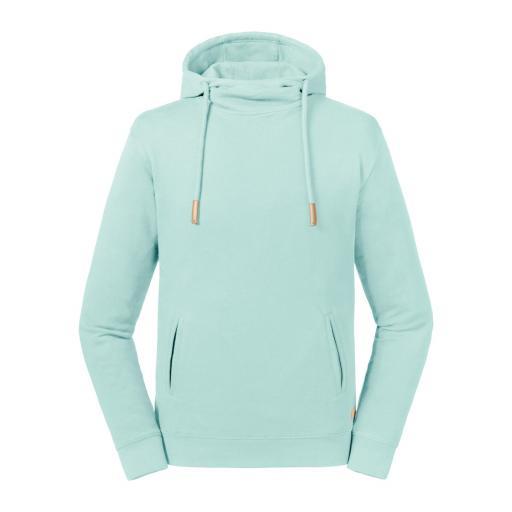 Unisex Organic High Collar Hooded Sweat