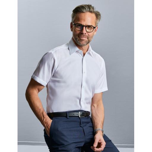 Men's Short Sleeve Tailored Ultimate Non-Iron Shirt