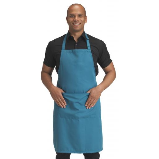 Recycled Bib Apron With Pocket