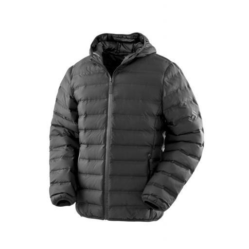 Unisex Ultrasonic Hooded Long Coat