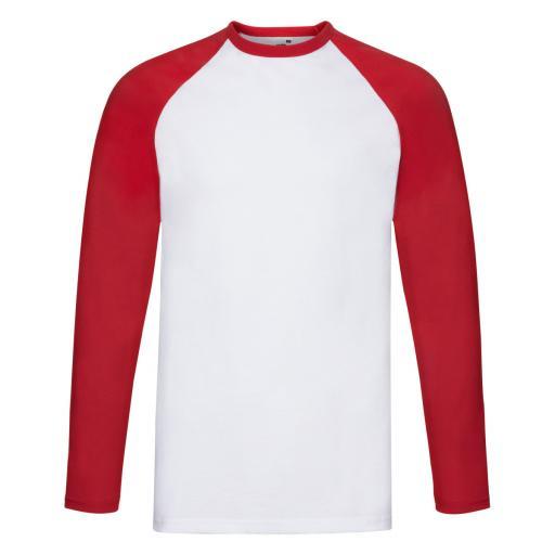 Men's Valueweight Long Sleeve Baseball T-Shirt