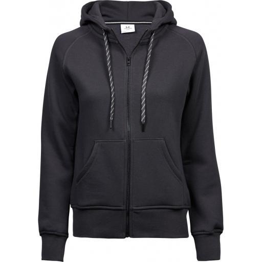 Ladies' Fashion Full Zip Hooded Sweat