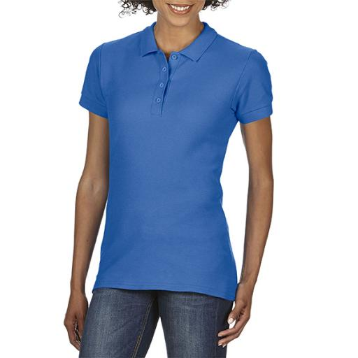 Softstyle® Ladies' Double Pique Polo