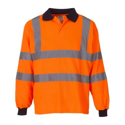 Hi-Vis Long Sleeve Polo Shirt