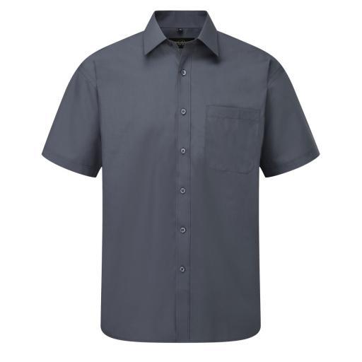 Men's Short Sleeve Polycotton Easy Care Poplin Shirt