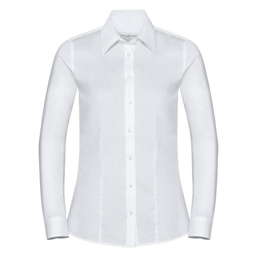 Ladies' Long Sleeve Tailored Coolmax® Shirt