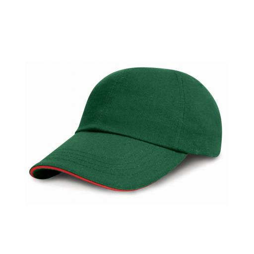 Low Profile Heavy Brushed Cotton Cap with Sandwich Peak