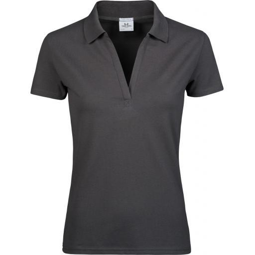 Women's Luxury Stretch V-Neck Polo