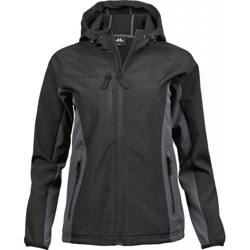 Ladies' Hooded Lightweight Performance Softshell