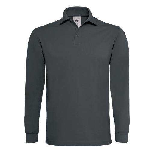 Heavymill Long Sleeved Polo Shirt