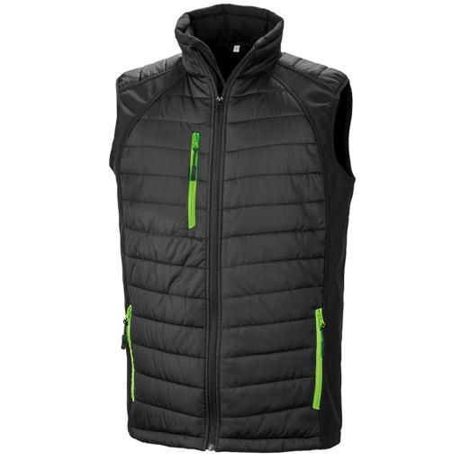 Black Compass Pad Softshell Gilet